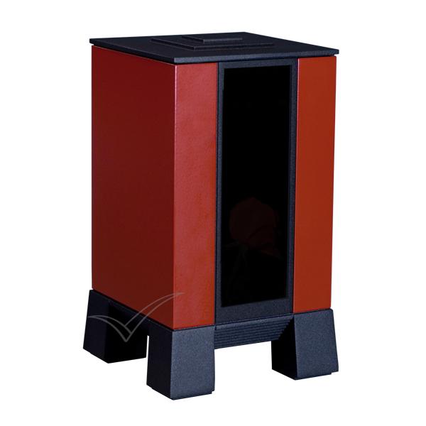 U8540 Urne en aluminium peint rouge