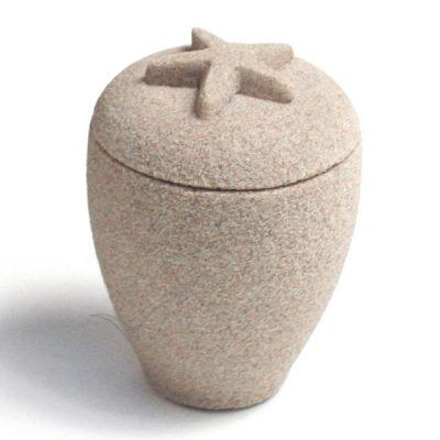U3155K Urne miniature en sable avec étoile de mer