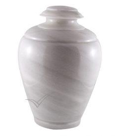 U6203 - White natural marble urn