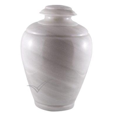 U6203 Urne en marbre naturel blanc