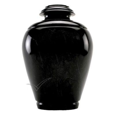U6205 Black natural marble urn