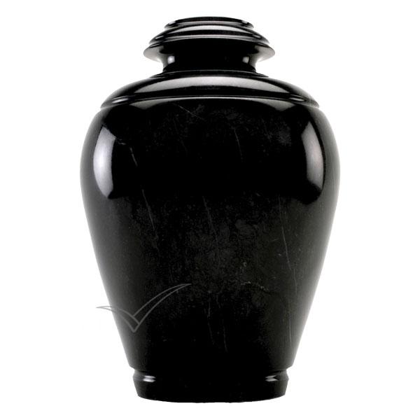 U6205 Urne en marbre naturel noir.