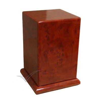 U9900 - Urne en placage de bois noueux