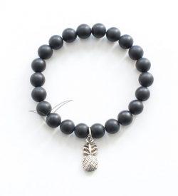 J03712 Mala bracelet with pineapple charm