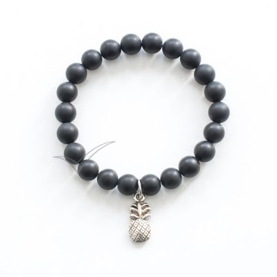 J03712 Mala bracelet with pineapple charm