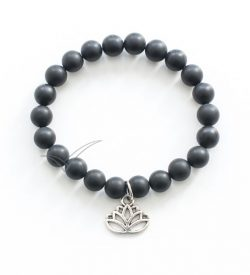J03713 Mala bracelet with lotus flower charm