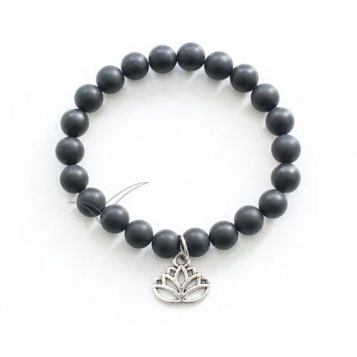 J03713 Mala bracelet with lotus flower charm