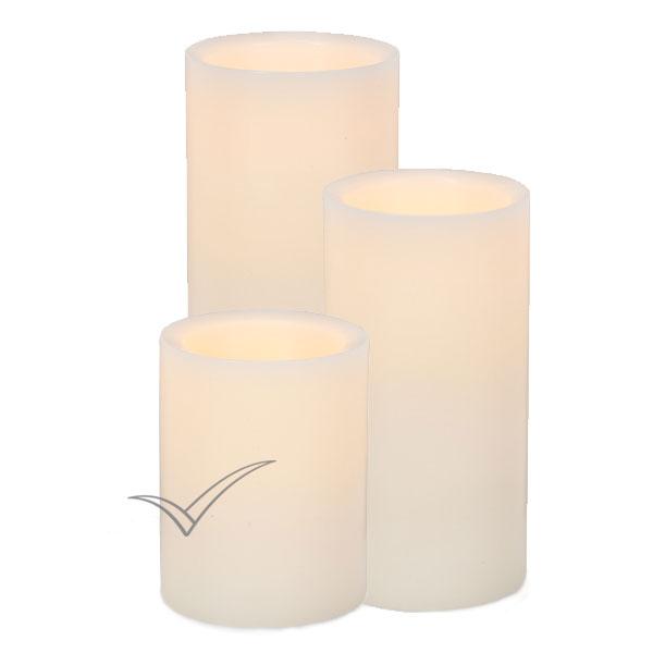 Bougies colonnes sans flamme à DEL à DEL Pushwick