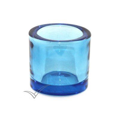 M502220 Chandelier en verre de couleur bleu