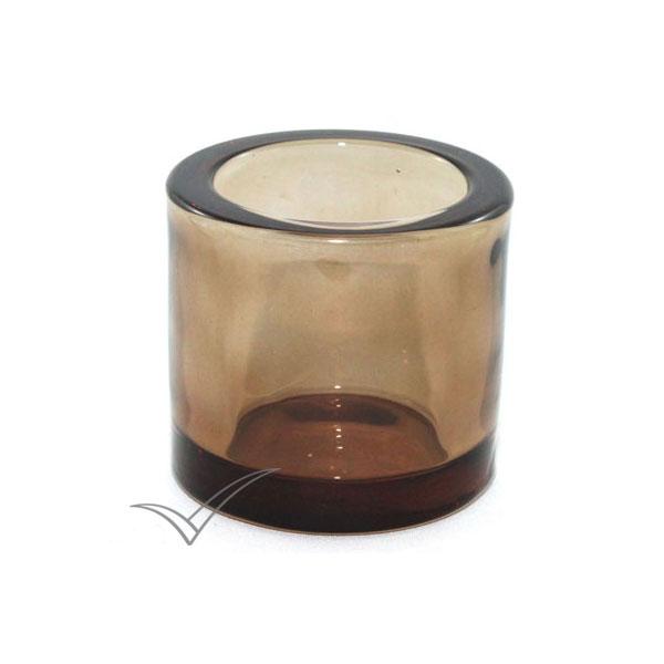 M506220 Chandelier en verre de couleur bronze