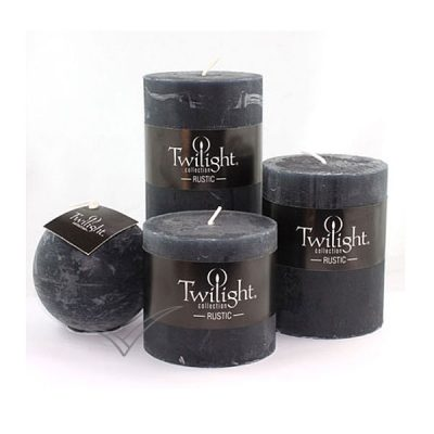 M5091 Black pillar candles