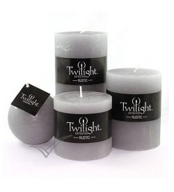 M509611 Grey pillar candle