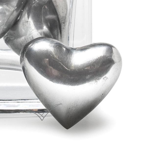 Cœur souvenir en aluminium