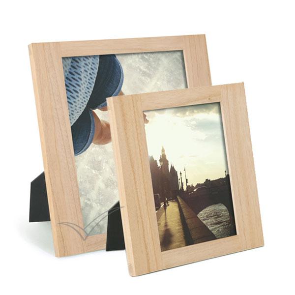 Cadre photo en bois, finition naturelle