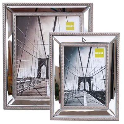 Cadre photo à bordure miroir