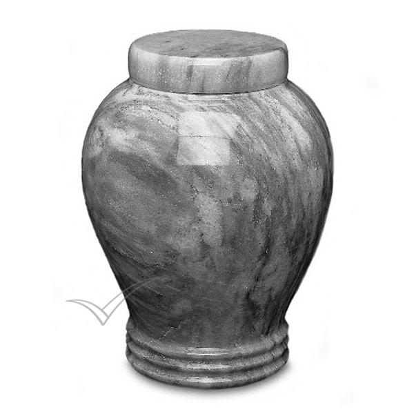 Urne en marbre naturel gris