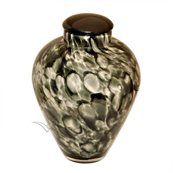Urne en verre soufflé gris