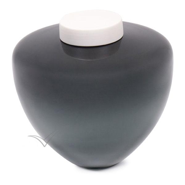 Urne en verre soufflé de couleur gris