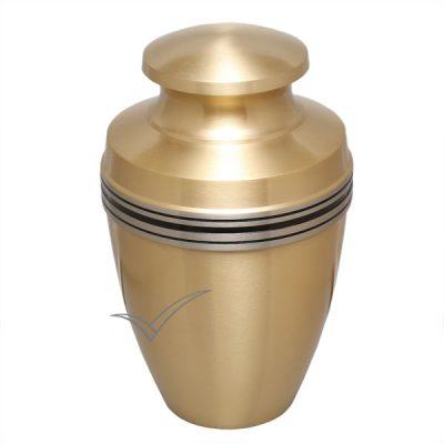 U86594 Gold brass urn