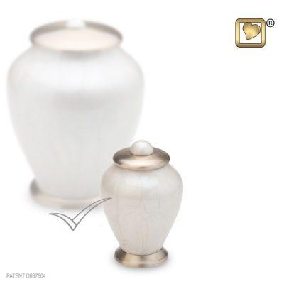 U8684K Miniature urn, light pearl finish