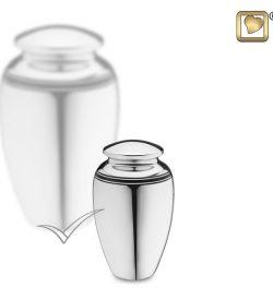 U8736K Silver miniature urn