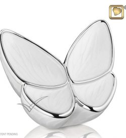 U8810 Butterfly brass and miniature urn