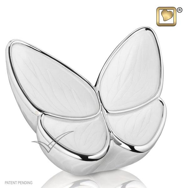 U8810 Urne papillon en laiton et aluminium